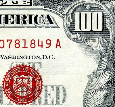 """HGR FRIDAY 1966""""A"""" $100 U.S. Note ((Highly WANTED)) VERY HIGH GRADE"""