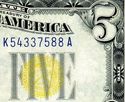 HGR FRIDAY 1934A $5 N.Africa ((Blue/Yellow)) Appears GEM+ UNCIRCULATED