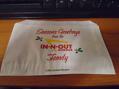 2017 In N Out Burger Christmas Wrapper - MINT