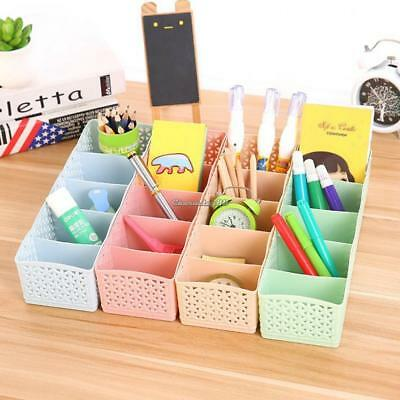 5 Cells Plastic Organizer Storage Box Tie Bra Socks Drawer Cosmetic Divider Tidy