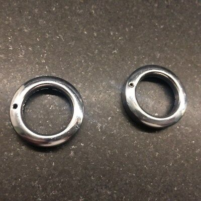 NOS CAMPAGNOLO NUOVO RECORD PISTA TRACK HUB DUST CAPS - Front - Pair
