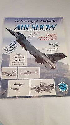 FLYING TIGERS AUTOGRAPH - Ace ROBERT T. SMITH - Air Show Program - No COA