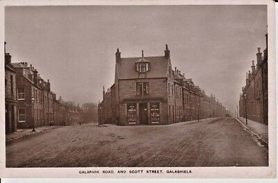 RP Early GALASHIELS - Galapark Road and Scott Street, shop, houses, Ecru Series