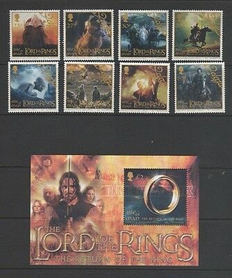 Isle of Man 2003 Lord of The Rings - Return of The King Mint MH Set + Mini Sheet