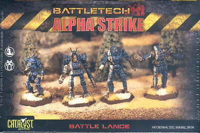 BattleTech Alpha Strike Battle Lance mit 4 Plastikfiguren /4 plastic miniatures