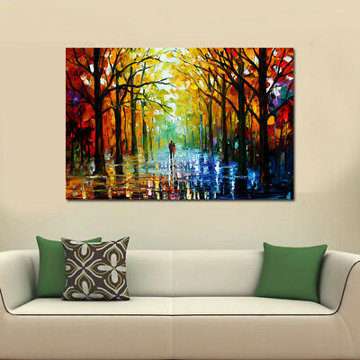 Colorful Forest Tree Canvas Print Oil Painting Picture Wall Mural Hanging Decor