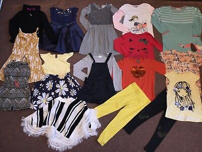 17 Items Bundle By Next, Zara, Bluezoo, F&f Sparkly Dresses,Tops Size 5-6 Years