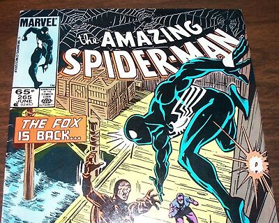 The AMAZING SPIDER-MAN #265 1st Appearance Silver Sable June 1985 in Fine- NS