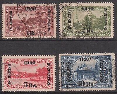 BRITISH OCC of IRAQ 1918 #11 #12 #13 #14 USED GV STAMPS top 4 values