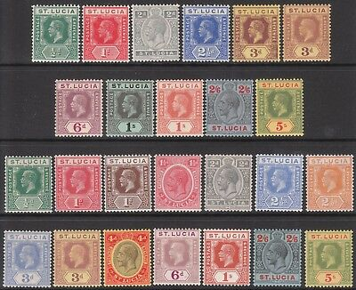 ST LUCIA MINT GV STAMPS incl 1912 #87 #88 1916  #81b 1921 #82b 1923 #105