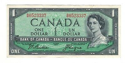 Canada 1954 $1 Bank of Canada Banknote G/M