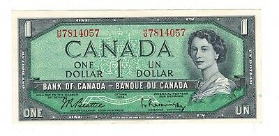 Canada 1954 $1 Bank of Canada Banknote H/M
