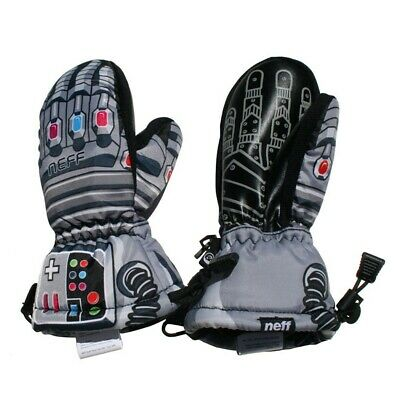 New 2015 Neff Youth Power Over Snowboard Over Mitts S/M Grey Youth
