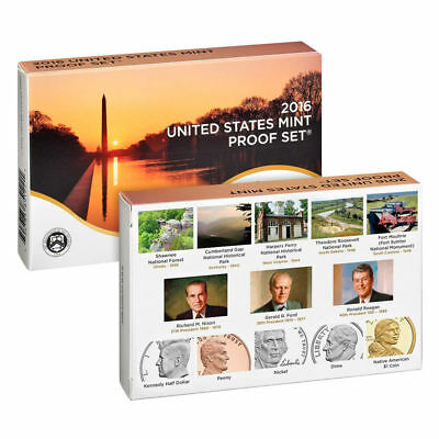 2016 S US Mint CLAD Proof 13 Coin Set (16RG) with box and COA low mintage