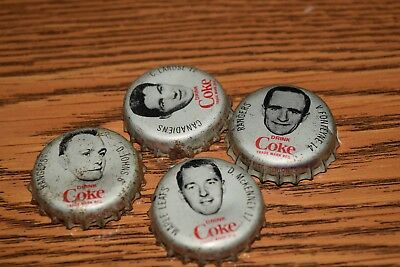 antique COCA COLA NHL HOCKEY PLAYERS bottle caps maple leafs canadiens rangers