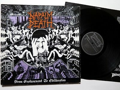 NAPALM DEATH - From Enslavement to Obliteration LP 1988 - first press - MOSH 8