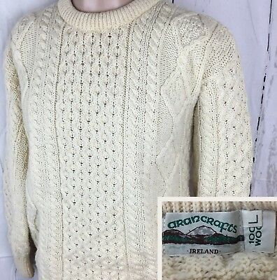 Oatmeal irish pure wool aran fisherman sweater c1347 cad for Aran crafts fisherman sweater