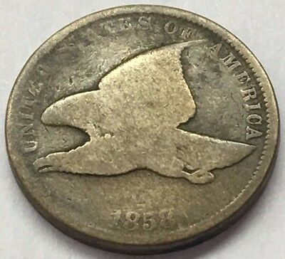 1858 Flying Eagle Penny One Cent U.s. Coin * Free Ship