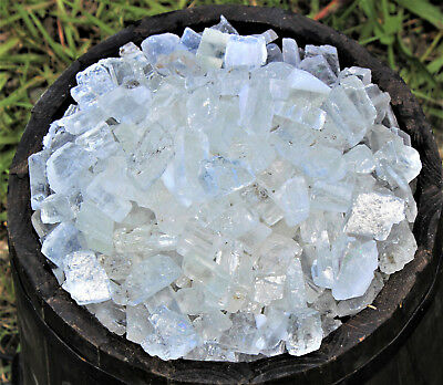 500 Carat Lot Rough Clear Ice Calcite (Raw Gemstone Crystal Healing 100 Grams)
