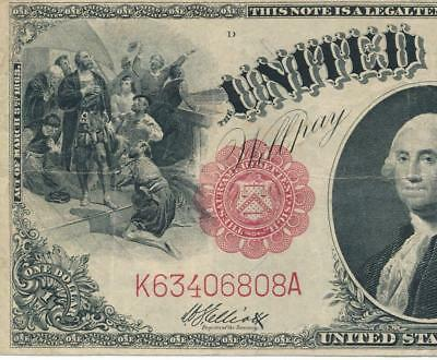 $1.00 Fr.37 1917 Red Seal Legal Tender United States Note Vf  No Rerserve