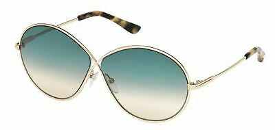 b287d78b569 Authentic Tom Ford FT0564 Rania 02 28P Shiny Rose Gold Gradient Green  Sunglasses