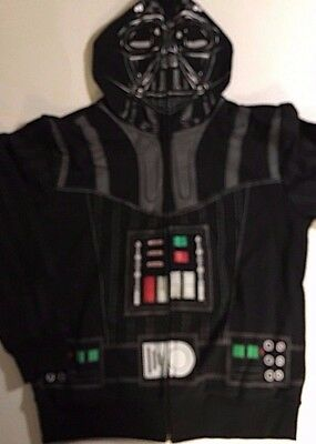 STAR WARS Zip Up HOODIE Jacket DARTH VADER  Boys M (10/12) L (14/16)  Costume