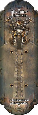 Motorcycle Tin Thermometer Only a Biker Knows Why,American Chopper 14RE