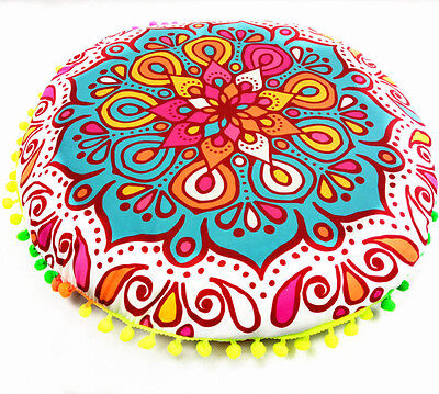 Round Indian Mandala Floor Pillows Bohemian Cushion Cushions Pillows Cover Case