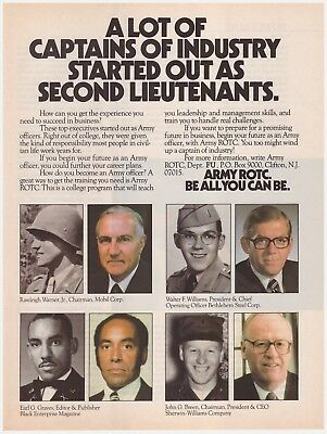 Original 1985 ARMY ROTC Captains of Industry Be All You Can Be. Vintage Print Ad