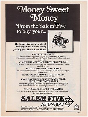 "Original 1985 Salem Five ""A Step Ahead"" Salem Mass. Bank Vintage Print Ad"