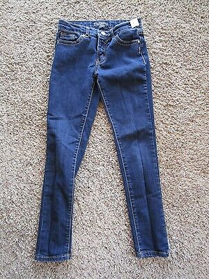 Silver Sasha Super Skinny Top Stitched Children Denim Jeans Girl's Pants Size 12