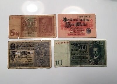 German Currency - Mixed Lot Of Four (4) Pieces - All Different