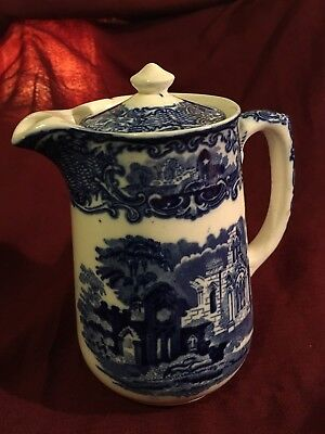 George Jones Blue and White Coffee Pot, Abbey Design, c1924 Excellent condition