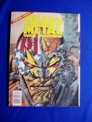 Heavy Metal Special War Machine. Dave Gibbons, Simon Bisley story & cover..