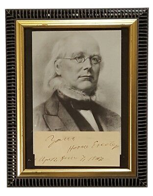 1867 Signed Horace Greeley Publisher - Congressman - Presidential Candidate