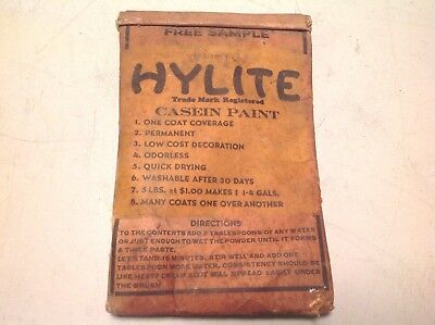 Vintage Hylite Casein Paint Sample White Hardware Store Willoughby Feed