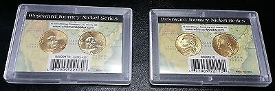 Lot of 2 Sets of Westward Journey Gold Plated Nickel Series - Whitman Cases