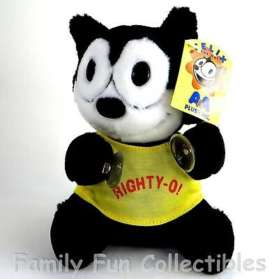 "FELIX THE CAT~1990s AA Plush~Stuffed Doll~Righty O~7"" Suction Cup Toy~NEW NOS"