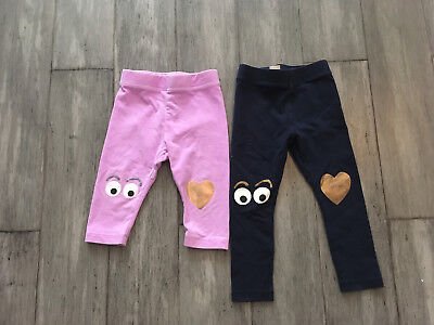 Lot of 2 Girls JCrew Crewcuts Max The Monster Leggings Size 2 Adorable!