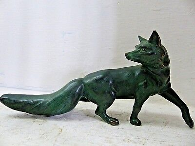 Very Decorative Bronze Fox With Makers Mark - Info Welcome - L@@k