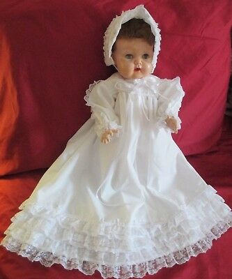 """Vintage American Character TINY TEARS Doll 15"""" Tall, New 3-Piece Outfit, VGC"""