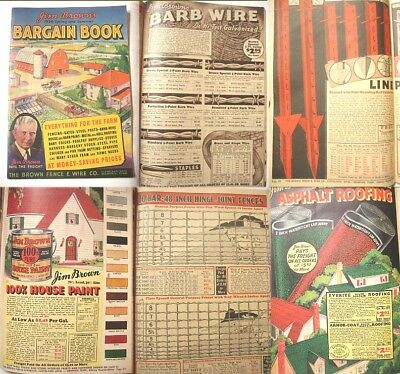 1936 Barbed Wire,Fencing,Harness, Poultry Supplies, Barn Paint, Fur Farm Catalog