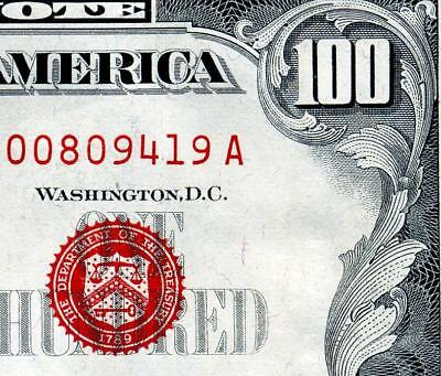 """HGR SUNDAY 1966""""A"""" $100 U.S. Note ((Highly WANTED)) VERY HIGH GRADE"""