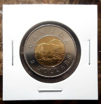 Canada 2012 Old Generation *No Security Features* Toonie BU UNC From Mint Roll!!