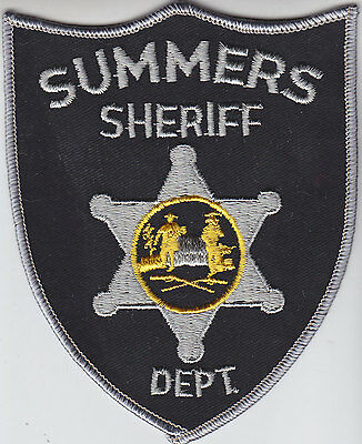 Summers County West Virginia Sheriff WV police patch
