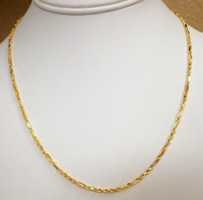"""14KT Yellow GOLD NEW Diamond Cut Rope Chain Necklace 18"""" Long 6.393 GRAMS"""