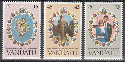 Vanuatu Nr. 606-608** Royal Wedding Prince Charles - Lady Diana