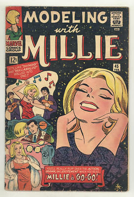 February 1966 MODELING WITH MILLIE #45. Millie a Go-Go! Paper dolls,Hairdos,Furs