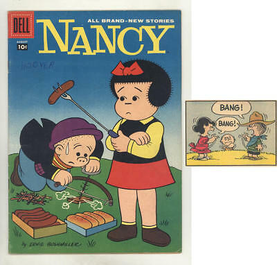 August 1958 NANCY #157 comic book with original never reprinted PEANUTS story