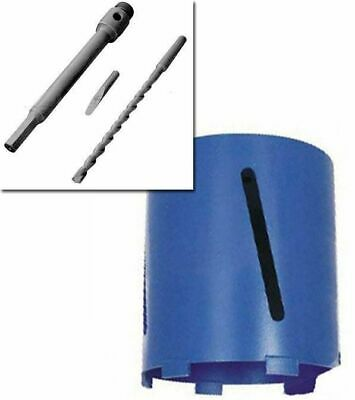 107MM x 150MM DIAMOND CORE DRILL + HEX ARBOR SHANK + PILOT BIT + EJECTOR